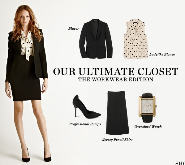 Professional clothing for young women