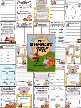 """The Biggest Pumpkin Ever ~ Written By Steven Kroll... This October Unit has 50 pages of ideas, activities and printables that correlate with the book """"The Biggest Pumpkin Ever."""" ~Class Discussion Questions & Ideas ~ Vocabulary Words, Definition List, Practice, Graphic Organizers And Printables ~ Making Connections ~ Character Webs ~ Writing Activities ~ ABC Order Activity Cards ~ Venn Diagram ~ Story Maps ~ Anchor Charts: Questions Ideas, Graphic Organizers, Biggest Pumpkin, Anchor Charts, October Unit, Story Maps, Definition List, Writing Activities"""