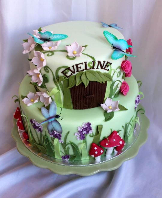 Fairy garden CakesDecor Birthday cake Pinterest