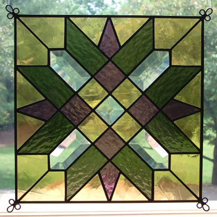 17 best images about stained glass on pinterest tiffany for Window pane quilt design