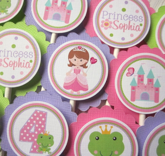 .4Th Birthday, Princesses Cupcakes, Pretty Princesses, Cupcakes Toppers, 3Rd Birthday, Parties Ideas, Bday Parties, Princesses Parties, Cupcake Toppers