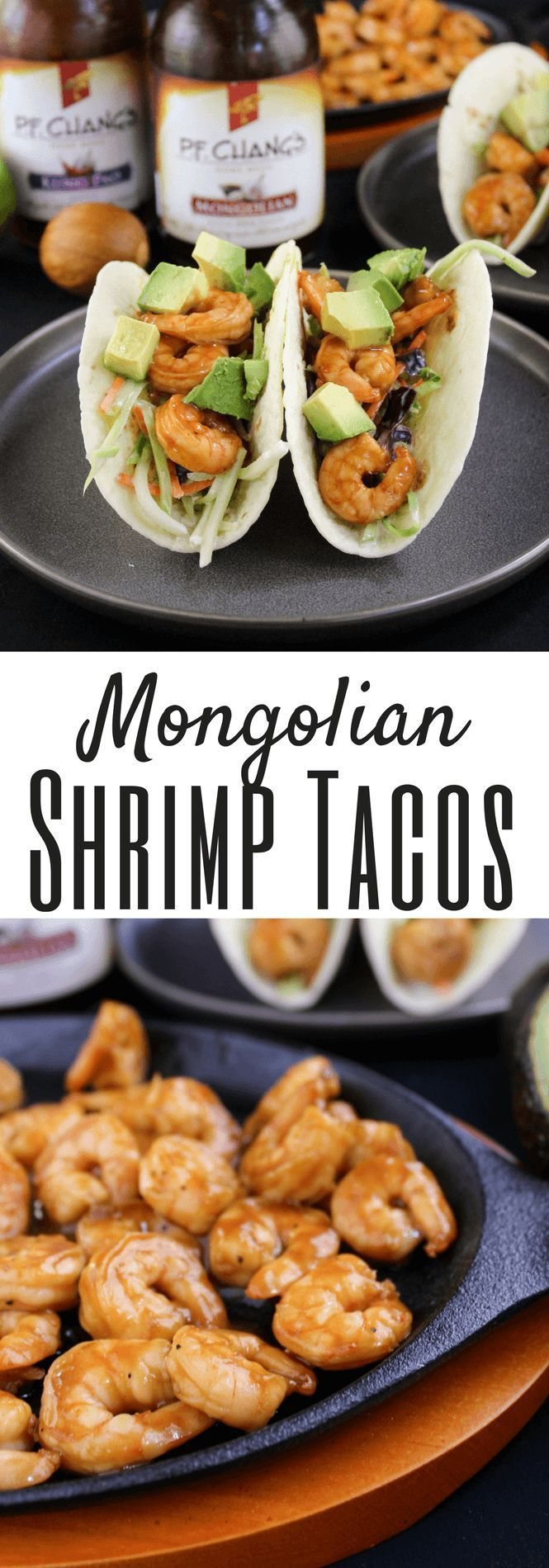 Mongolian Shrimp Tacos #ad #AuthenticMadeEasy #seafood #tacotuesday Quick Dinner Recipe