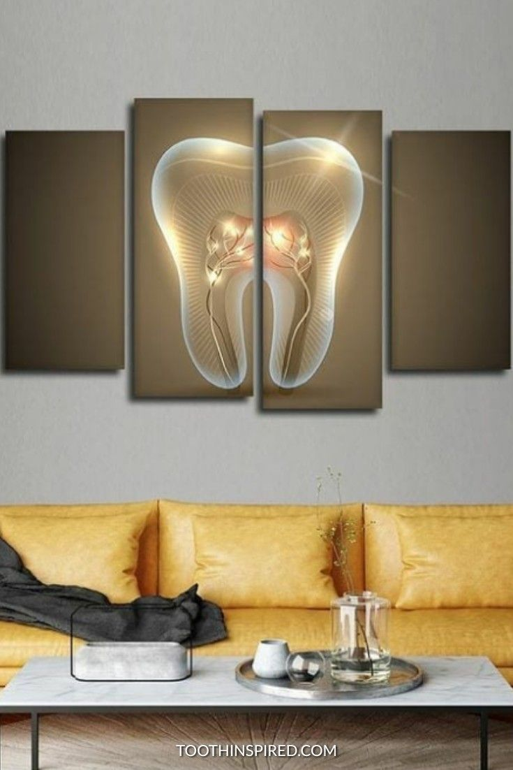 Glowing Tooth Nerve Wall Art Dental Office Decor Dental Wall Art Gifts For Dentist
