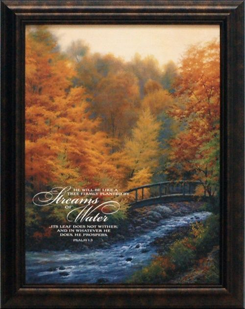 artistic reflections streams of water wholesale framed inspirational autumn landscape art print - Wholesale Art And Frames