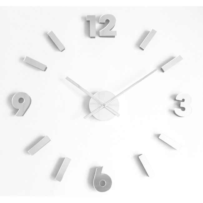 Keep time the DIY way with this self adhesive mirrored wall clock. This contemporary wall clock features silvertone quality acrylic indices and numerals with a quartz-operated dial and self adhesive back allowing you to create your very own design.