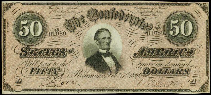Confederate Paper Money $50 Dollar Bill 1864 T-66 …