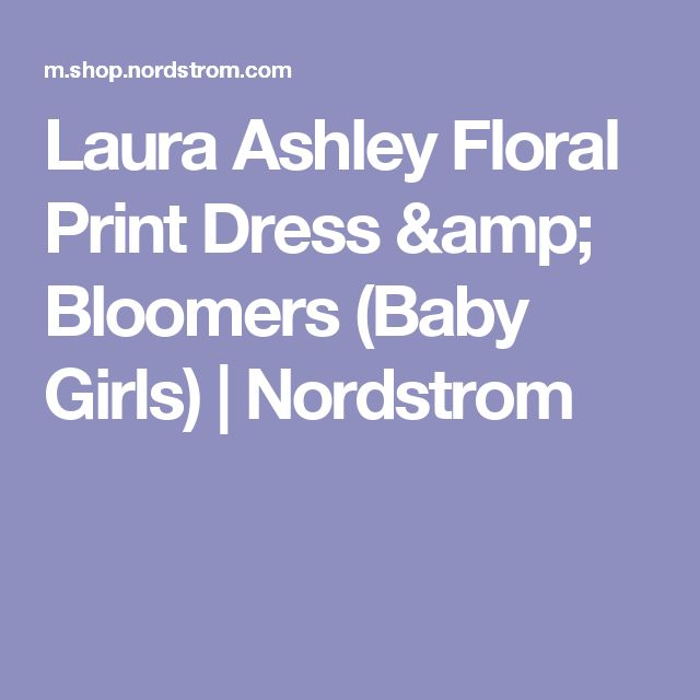 Laura Ashley Floral Print Dress & Bloomers (Baby Girls) | Nordstrom