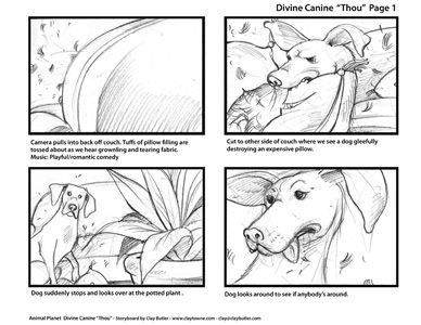 Large Image of Storyboard Illustration Sample