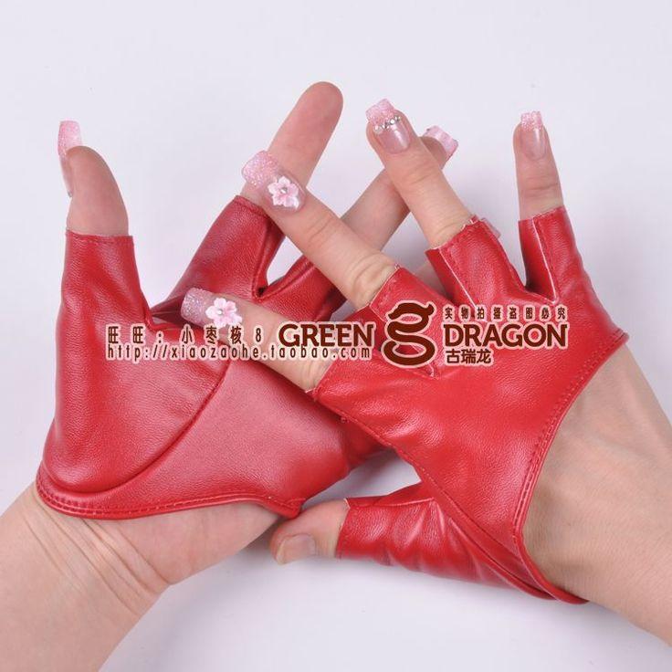 Танцы полпальца перчатки / хип-хоп панк вспышка перчатки