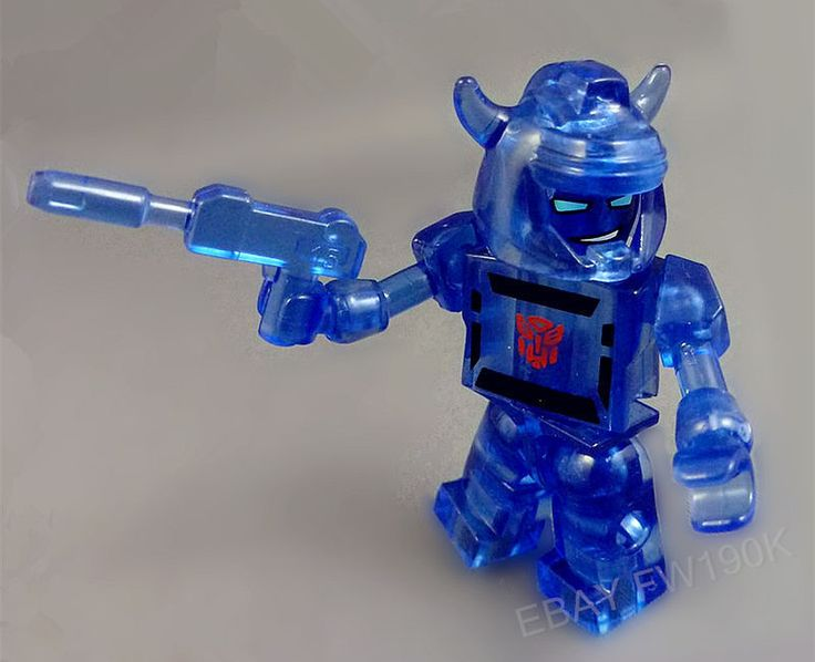 Hasbro Kre-O Kreons Transformers  Energon Bumblebee Transparent blue #KREO
