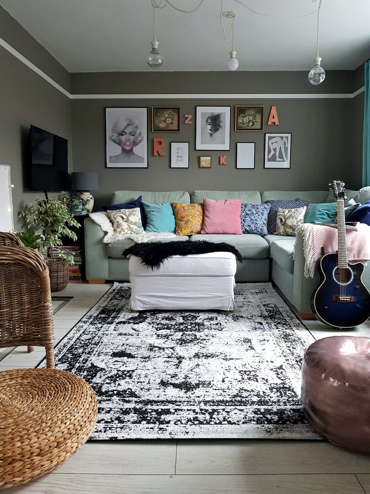 44++ Large round rug in living room info