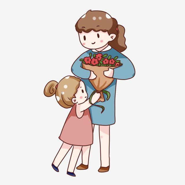 مهرجان احتفال مدرسي للرسوم المتحركة معلم طلابي اعطي الزهور للمعلمين نمط زخرفي Png و Psd In 2020 Teachers Day Celebration Cute Characters Painting Teacher