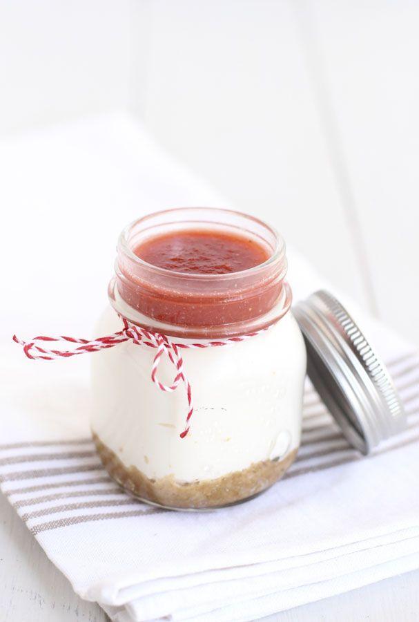Cheesecake de ruibarbo y fresa