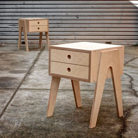 Bedside Table with soft closing drawer made from by Woodbeast
