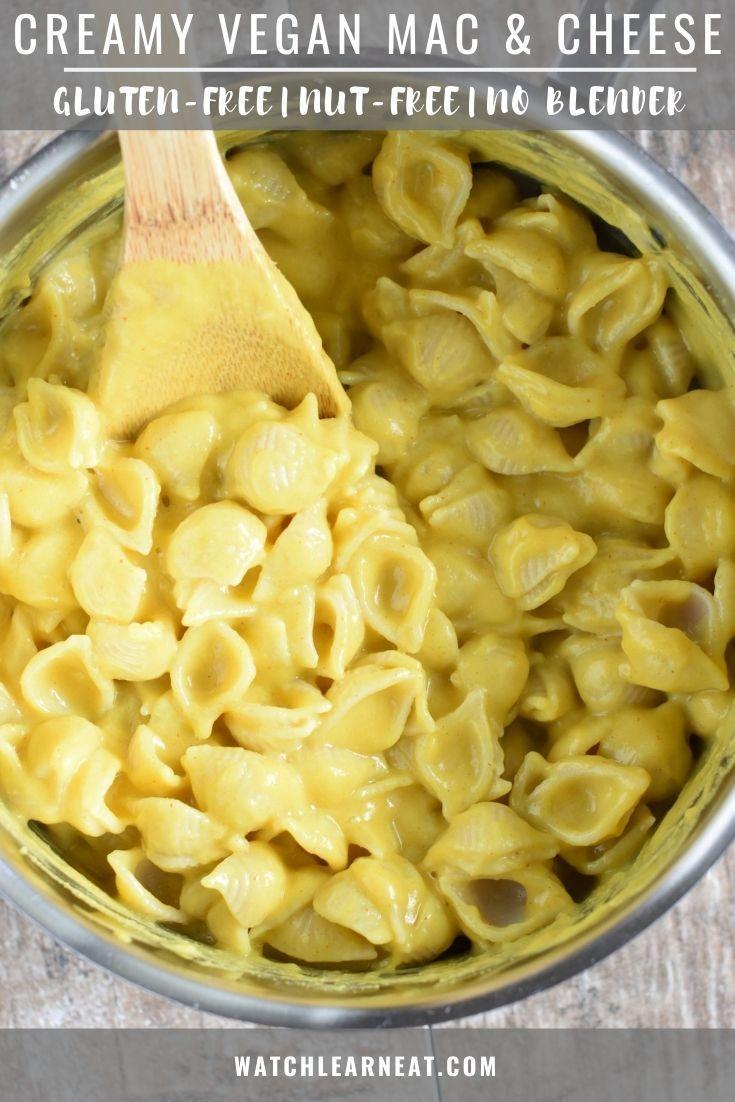 Creamy Vegan Mac Cheese In 2020 Vegan Mac And Cheese Mac And Cheese Gluten Free Dairy Free Recipes