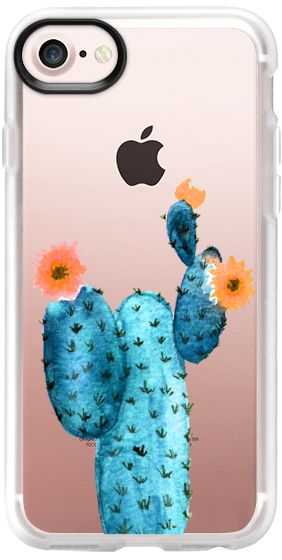 Casetify iPhone 7 Classic Grip Case - Cactus watercolor n.9 by Psychae  #casetify #casetifyartist