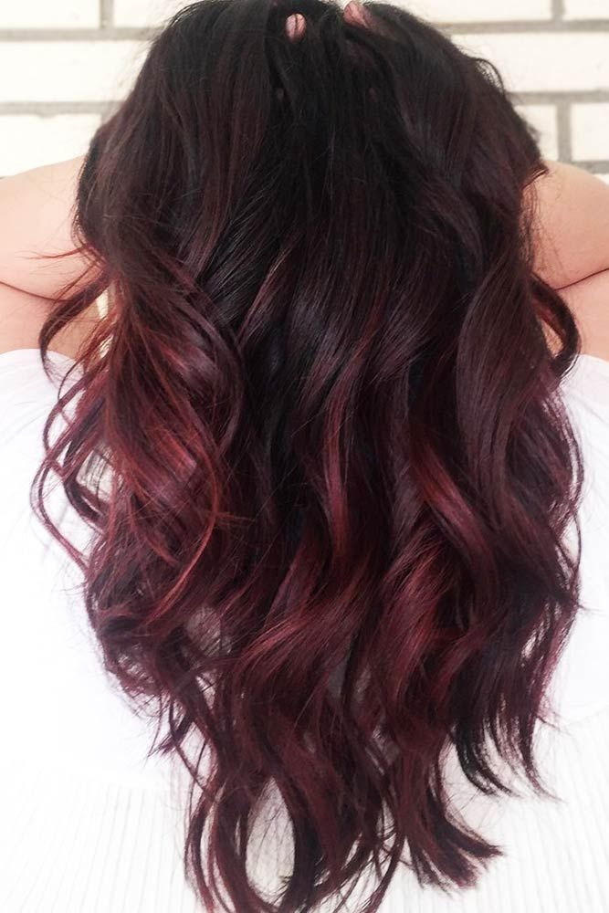 Dark Brown Red Balayage The Most Popular Shades Of Dark Red Hair For Distinctive