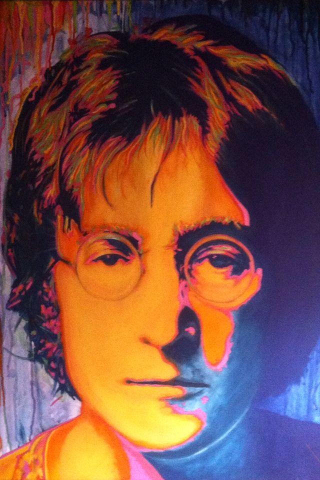 John Lennon . . . By K s . . . (Acrylic on Canvas) (70 x 90cm)