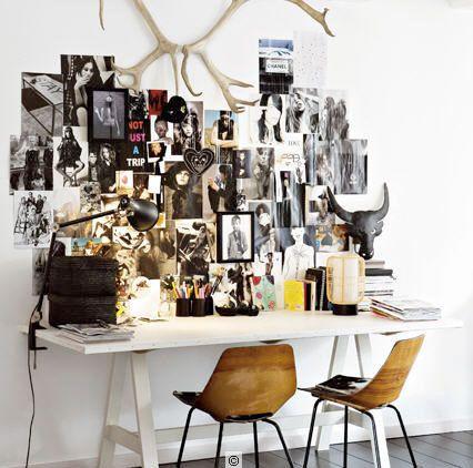 WorkspaceWall Collage, Inspiration Wall, Mood Boards, Offices, Inspiration Boards, Work Spaces, Workspaces, Desks, Design Home