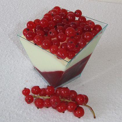 Rybízový dezert s bílou čokoládou