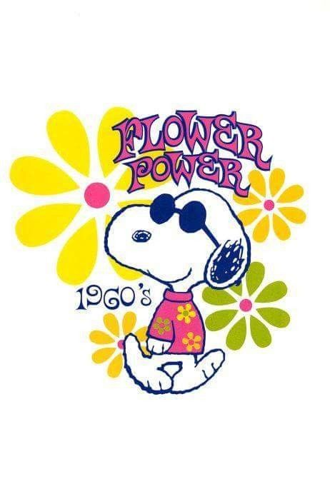 Snoopy Flower Power ☮️ Snoopy Snoopy And Woodstock