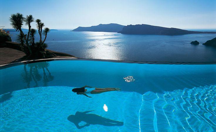 Perivolas Infinity Pool Greece Oia Santorini contact  Bookit -now.co.uk  for beat best summer deals