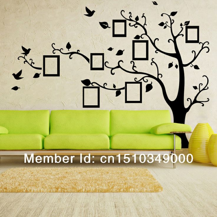 Huge 90x70 Inches Black Photo/Picture Frame Tree Branch Wall Decals  Sticker, Removable Vinyl