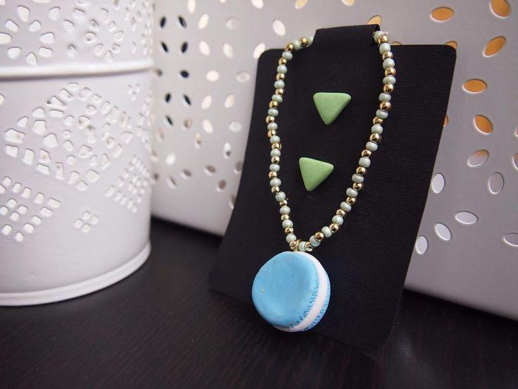 💎 Blue & mint 🍃 • PER ACQUISTARE CONTATTAMI 📱 Direct 💌 potpourridsgn@gmail.com #️⃣ #potpourridesign #macarons #dolci #orecchini #triangoli #azzurro #verde #blue #mint #sweet #menta #lightblue #regalo #dolci #laduree #colori #gioielli #photooftheday...