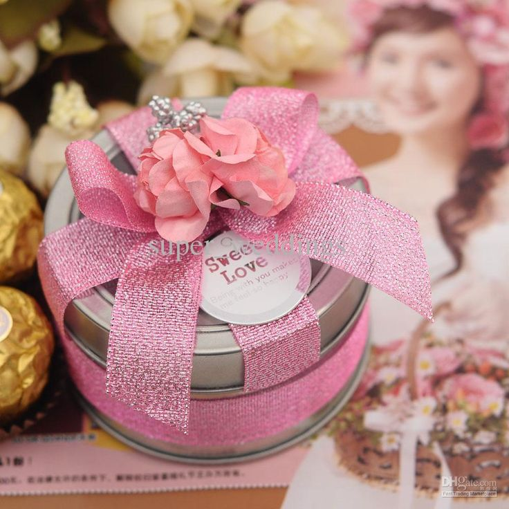8 Colors Tin Plate Candy Bo Round Silver Wedding Favors Party Gift Holders 20pcs