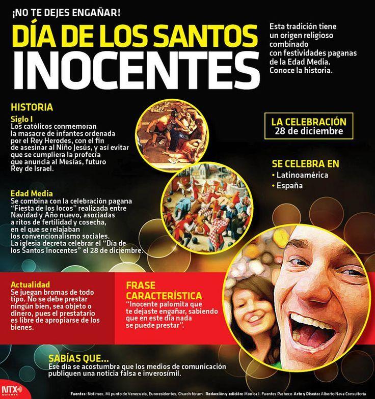 ¡No te dejes engañar! hoy es el Día de los Santos Inocentes, una tradición que tiene un origen religioso y pagano. #Infografia
