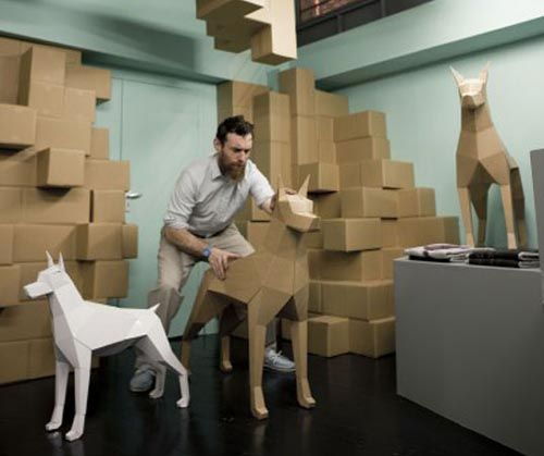 Image detail for -Recycled Cardboard Animals Sculptures Design for Smithfield Shop in ...