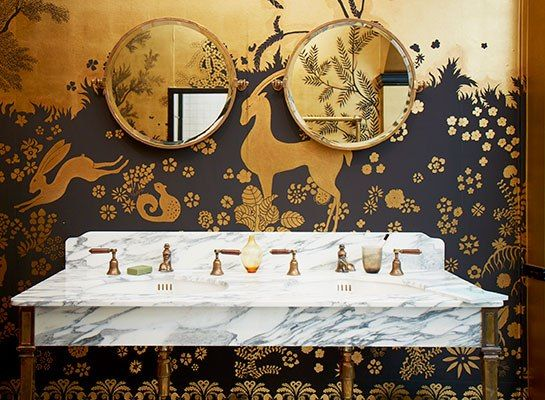 London-based hand-painted wallpaper with historic roots : De Gournay - Architectural Digest