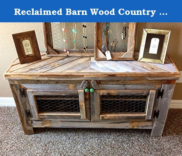 Reclaimed Barn Wood Country Rustic Style 42 Inch TV Stand Entertainment Center F. Reclaimed Barn Wood Country Rustic Style 42'' TV Stand Entertainment Center Furniture Furniture is the foundation of style. Each piece makes a statement. From unfinished reclaimed wood to detailed French country decor. Home is where you rest. No matter what you want your home to say about you, say it with style. Some things you just look at and know you have to have them in your home. Whether rustic or sleek...