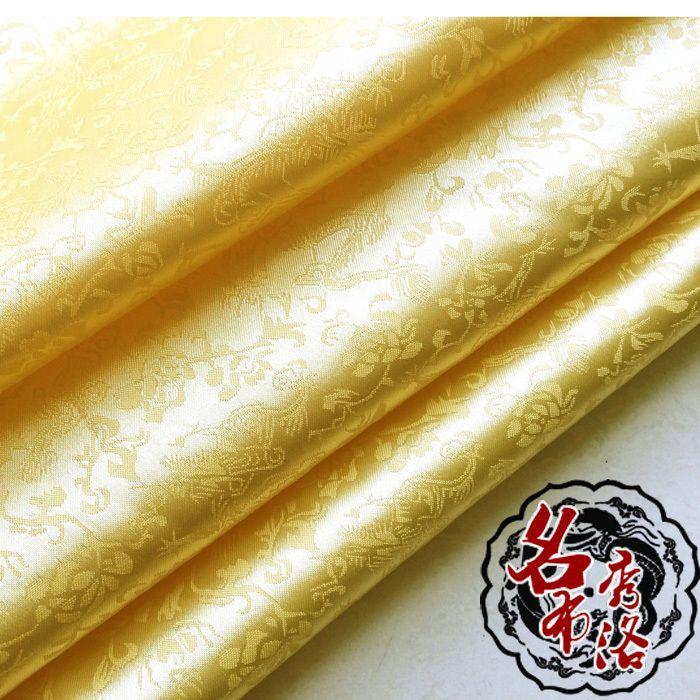 Aliexpress.com : Acquista  Drago jacquard raso di seta abiti antichi e costume super soft giallo pallido tessuto broccato costume cos   da Fornitori tessuto acetato affidabili su Buie fang
