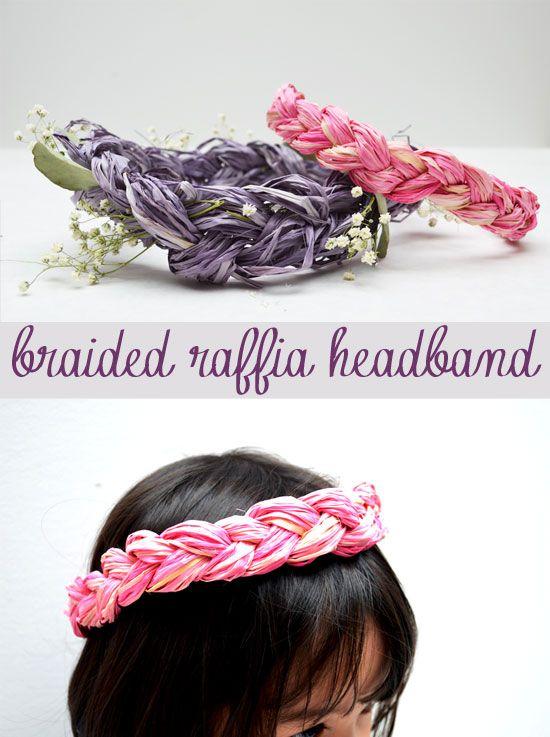 Raffia headband craft