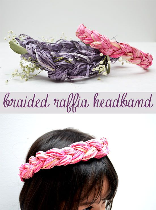 Raffia headband craft