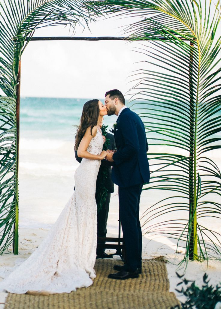 all inclusive beach wedding destinations%0A Style Meets Sand for this Destination Wedding in Tulum