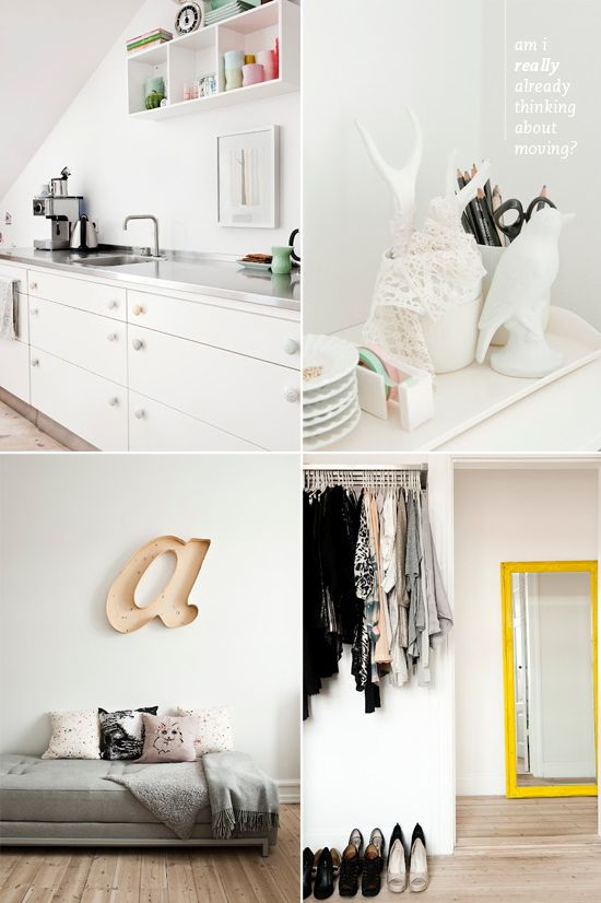 .: Interior Dream Space, Sweet, Inspiration, White Spaces, Pop Color, Interiour Dreaming, Spaces Suitable, White White, White Room