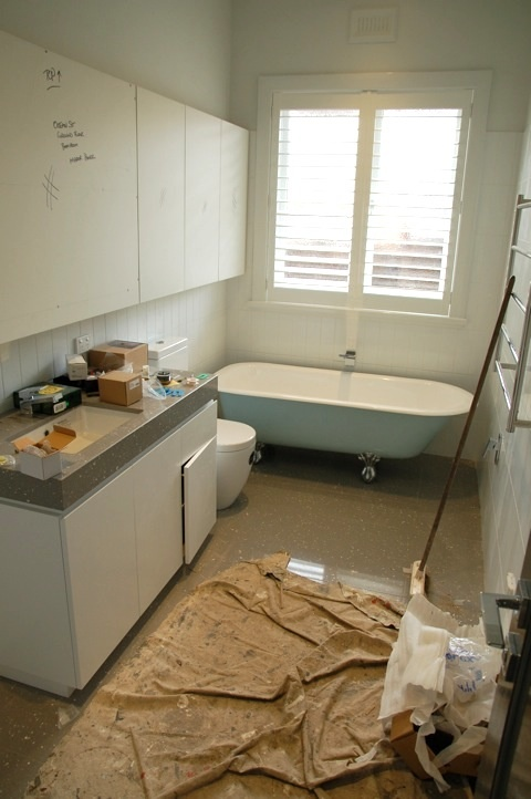 Bathroom renovation almost complete