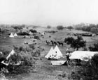 This is a vintage photograph from the Amarillo Globe-News archives. Without a lot of background information, the photograph may not relay enough pertinent information for our readers, but in this case, this vintage early 1890's photograph of a cattle drive encampment near Amarillo was so full of rich detail it stands on its own merit.