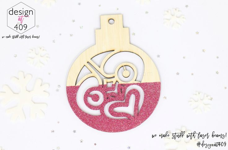 Tiki Christmas Tree Bauble : Bamboo With Glitter : Design at 409