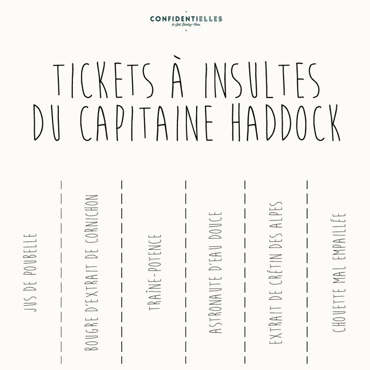 Tickets a insultes du capitaine Haddock / Tintin