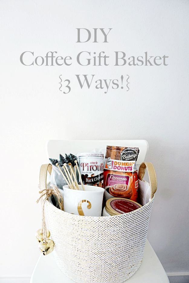 A coffee gift basket is an easy & fun gift that fits so many this holiday season! From teachers to neighbors, this gift basket will be loved and appreciated by everyone!