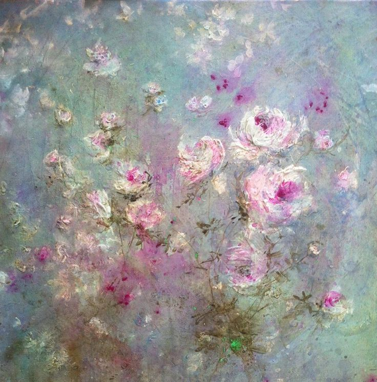 Beautiful artwork by French artist Laurence Amélie, painted in an  impressionist fashion, portray the soft illusion of forms being blown in a  gentle breeze. Delicate, yet not too flowery, soft pastel colour scheme  makes them an incredible asset to office and living room.