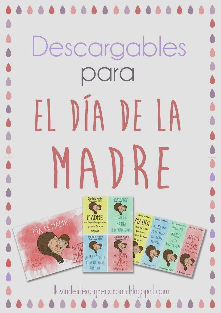 LLUVIA DE IDEAS: Descargables: Detalles para imprimir para el Día de la Madre