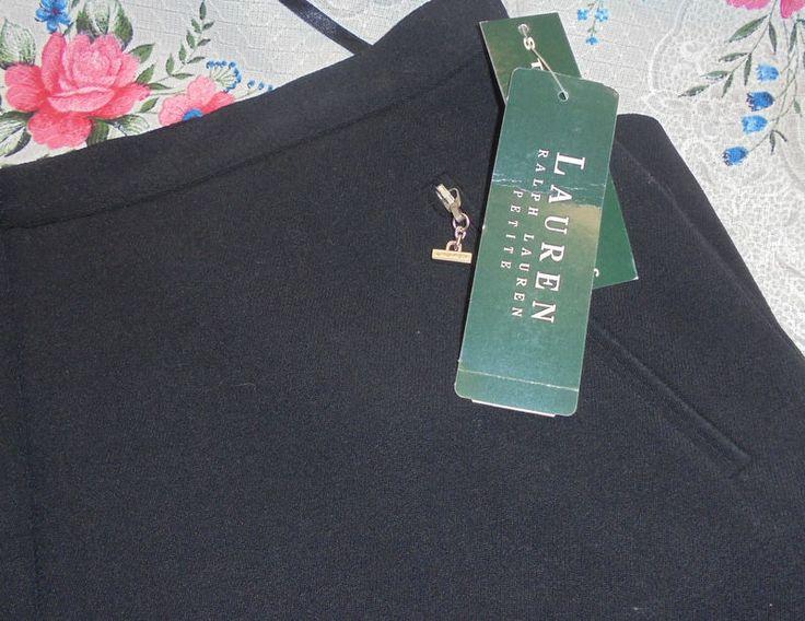 "NWT RALPH LAUREN Size 14P Long Black Skirt Wool/Nylon spandex 34"" Long #RalphLauren #LongSkirt"