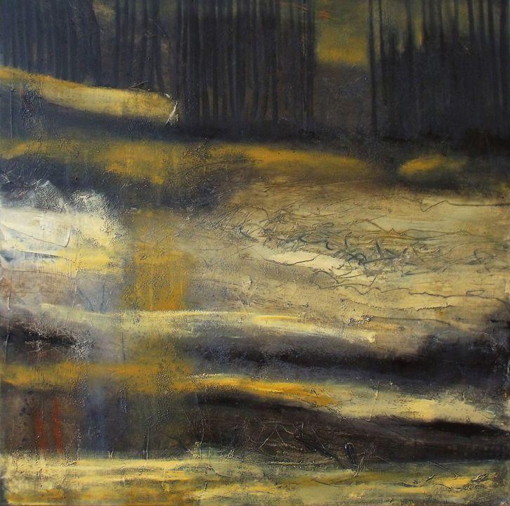 """""""Entrer dans la nuit"""" oil on canvas www.michelebedard.me"""