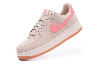 8290f44a88ed Nike Wmns Air Force 1 07 Seasonal Beige Pink 818594 100 Womens Sneakers