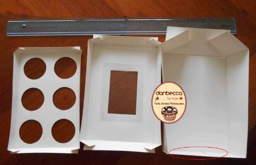 como hacer cajas para cupcakes                                                                                                                                                                                 Más