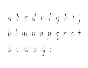Alphabet Handwriting Sheet - 1 Page